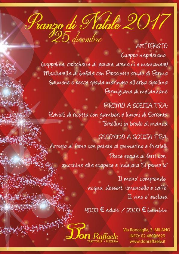 Menu Pranzo Di Natale Napoletano.Menu Pranzo Di Natale 2017 Don Raffaele Trattoria Pizzeria